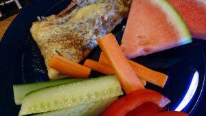 Crepes med skinka och spenat