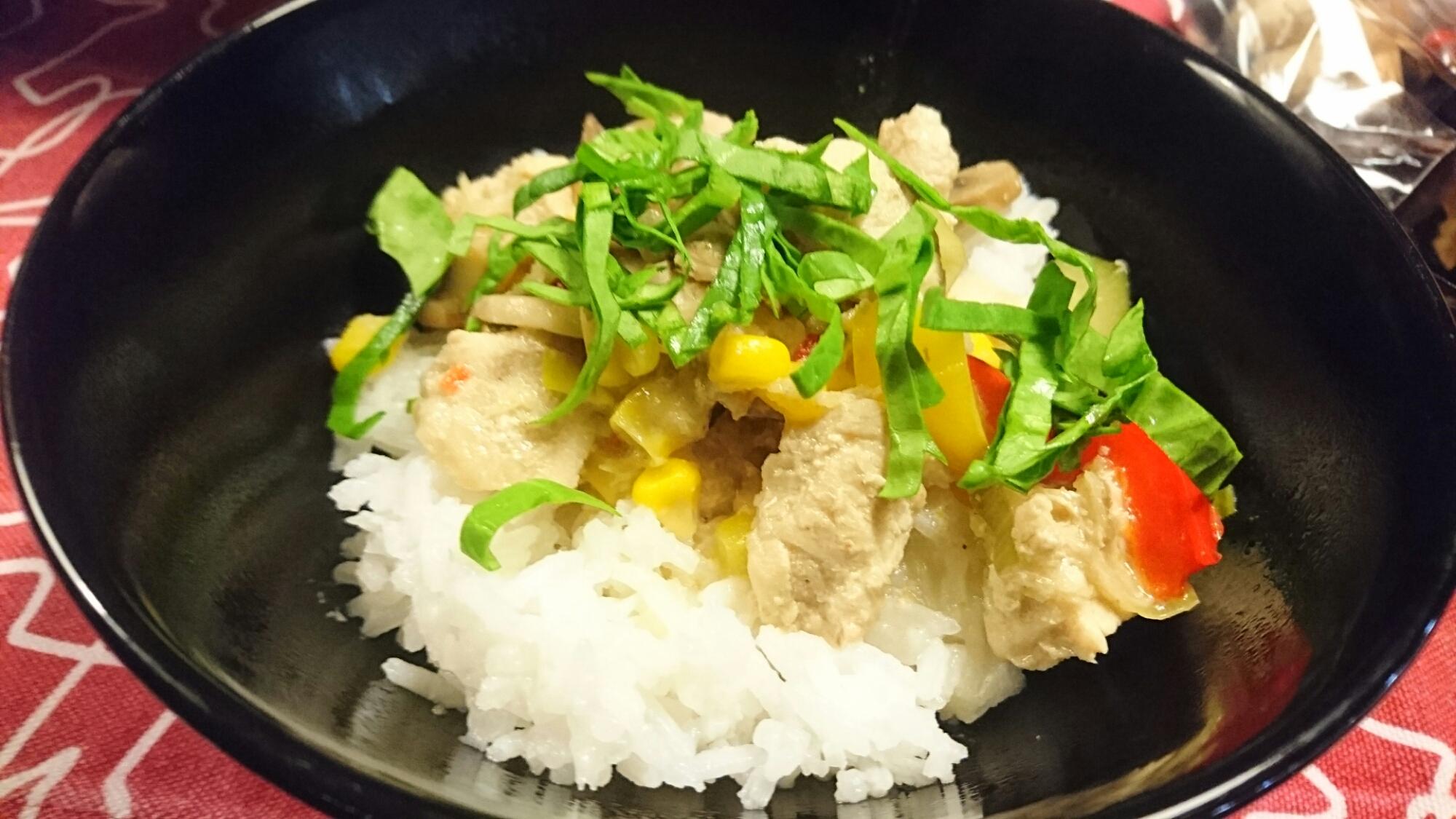 Kycklinggryta med grön curry