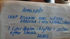Mormors äppelgröt