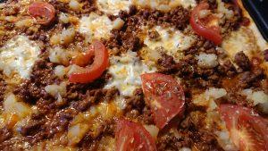 Kryddstark köttfärspizza