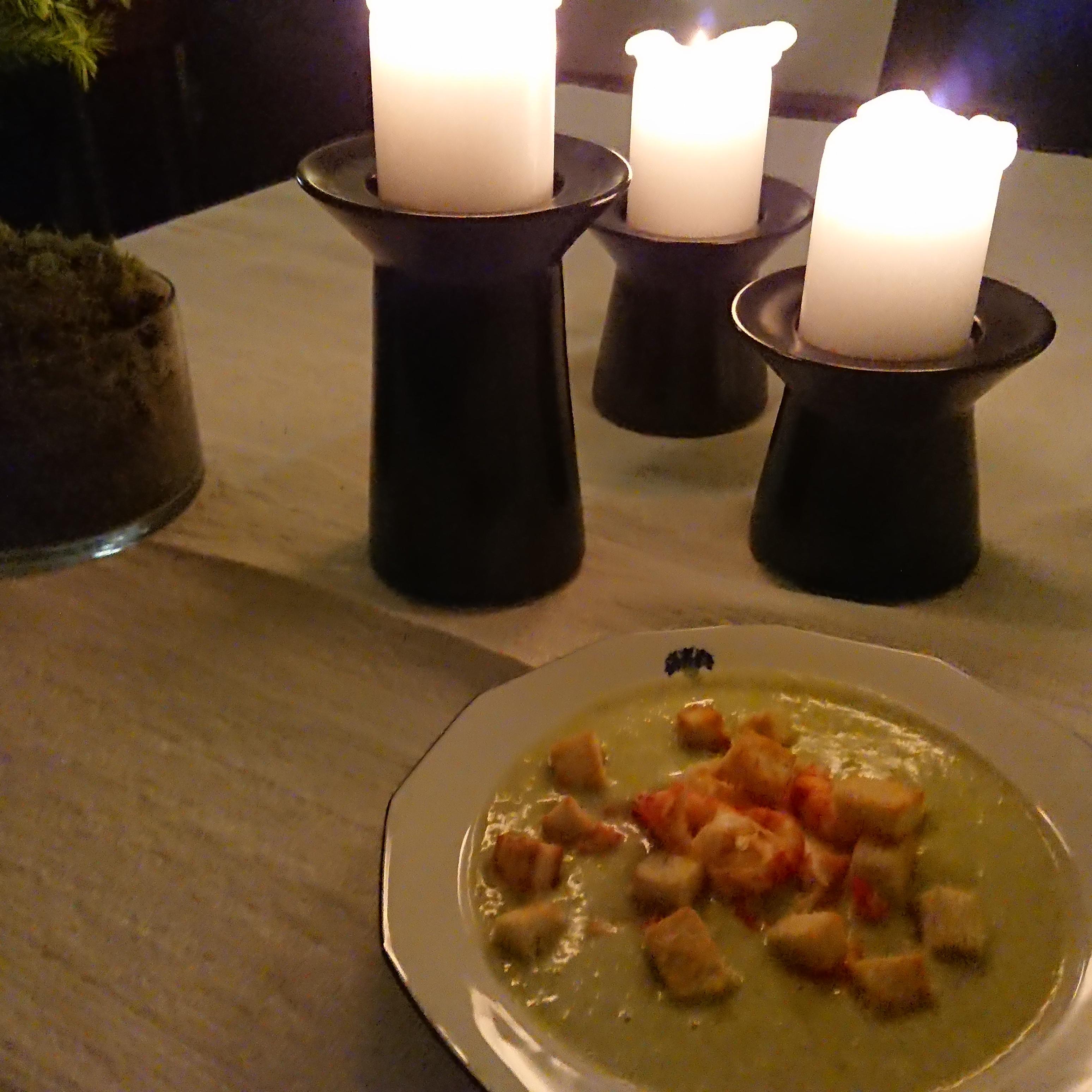 Broccoli- och potatissoppa