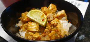 Stekt tofu med söt och stark sås