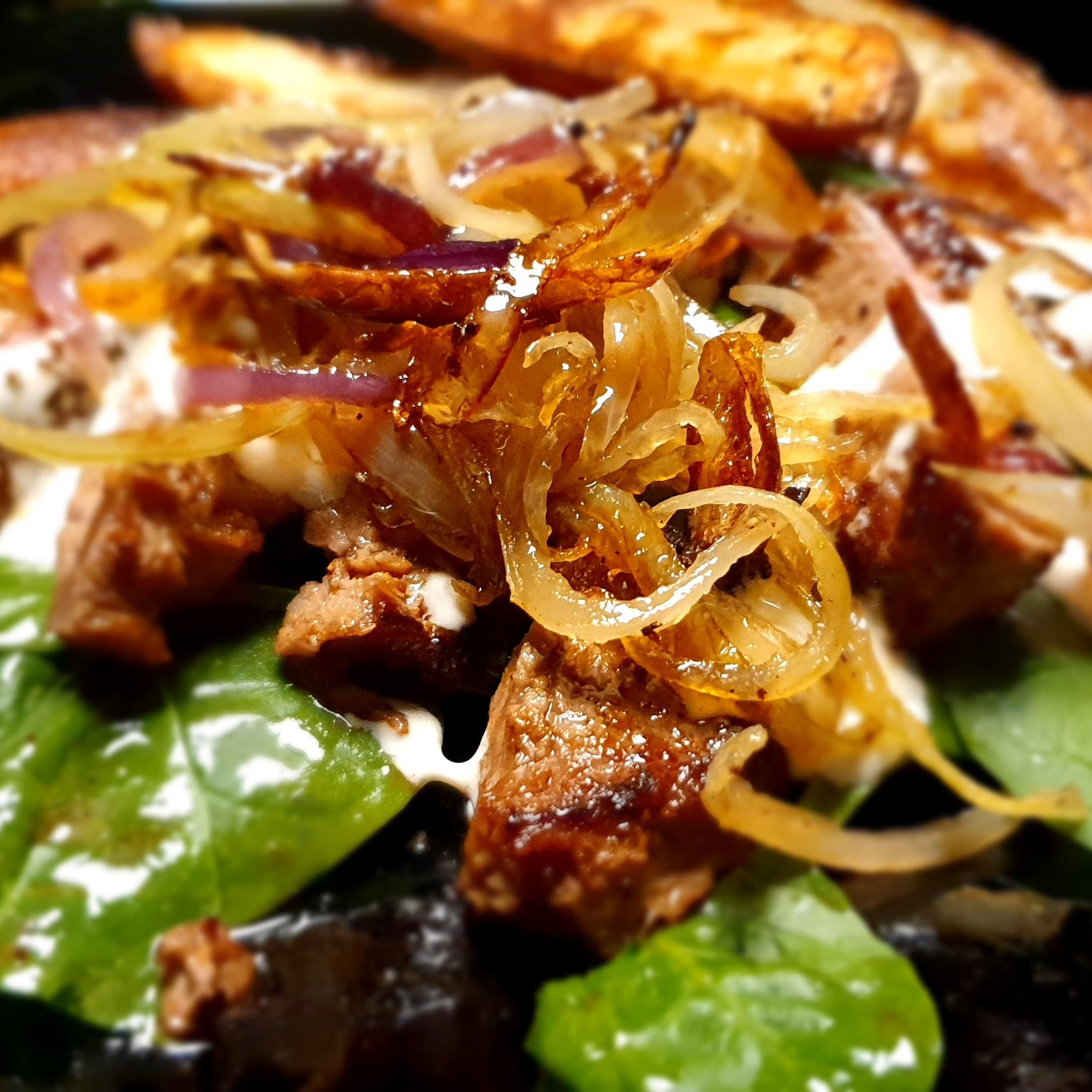 Ryggbiff med senaps- och dragonsås