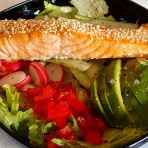 Lunchlax med sallad