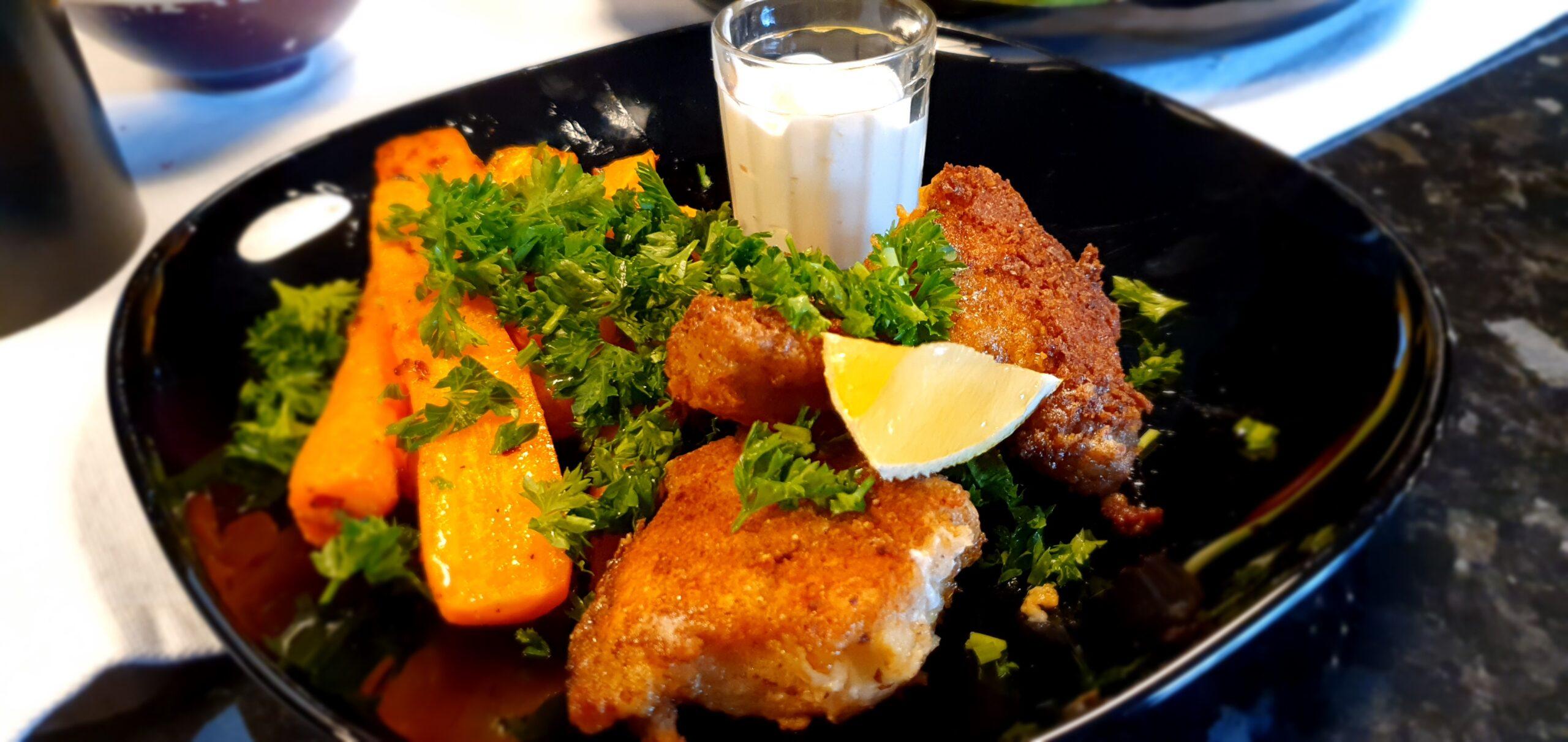 Cornflakes- och parmesanpanerad torsk