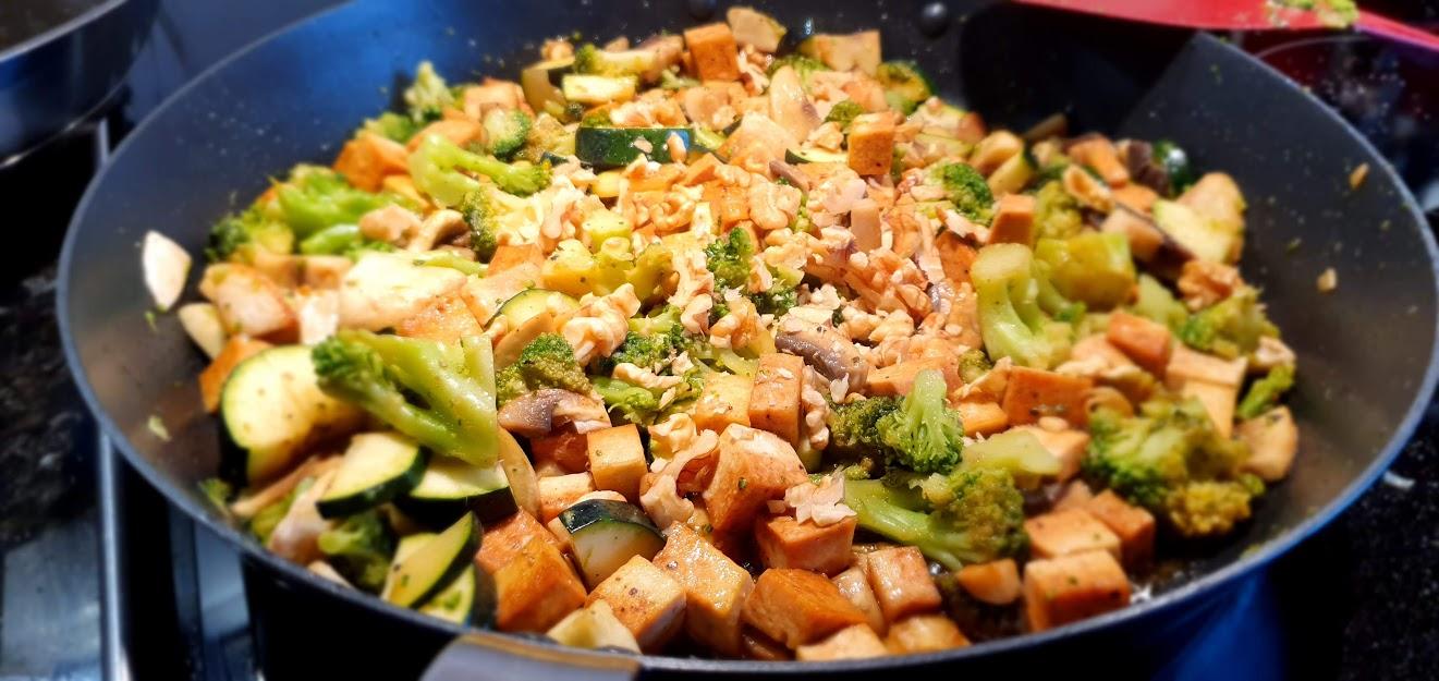 Stekta grönsaker med tofu